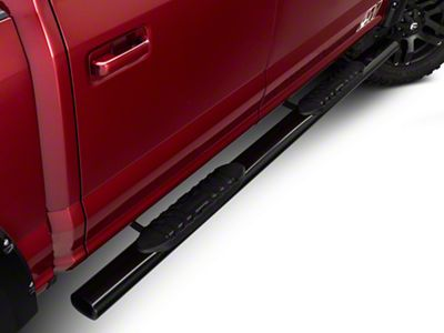 Barricade 5 in. Oval Straight Side Step Bars - Black (15-18 F-150)