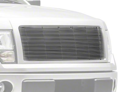 T-REX Billet Series 1-Piece Upper Grille Insert - Polished (09-14 F-150 STX, XL, XLT, FX2, FX4; 13-14 F-150 King Ranch, Lariat, Limited)