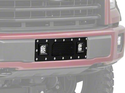 T-REX Torch Series Lower Bumper Grille Insert w/ Dual 3 in. Square LED Lights - Black (15-17 2.7L/3.5L EcoBoost F-150, Excluding Raptor)