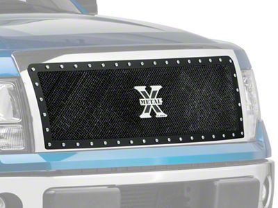 T-REX X-Metal Series 1-Piece Upper Grille Insert - Black (09-14 F-150 STX, XL, XLT, FX2, FX4; 13-14 F-150 King Ranch, Lariat, Limited)