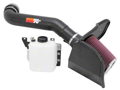 K&N Series 77 High Flow Performance Cold Air Intake w/ Coolant Reservoir - Black (10-14 6.2L F-150 Raptor)