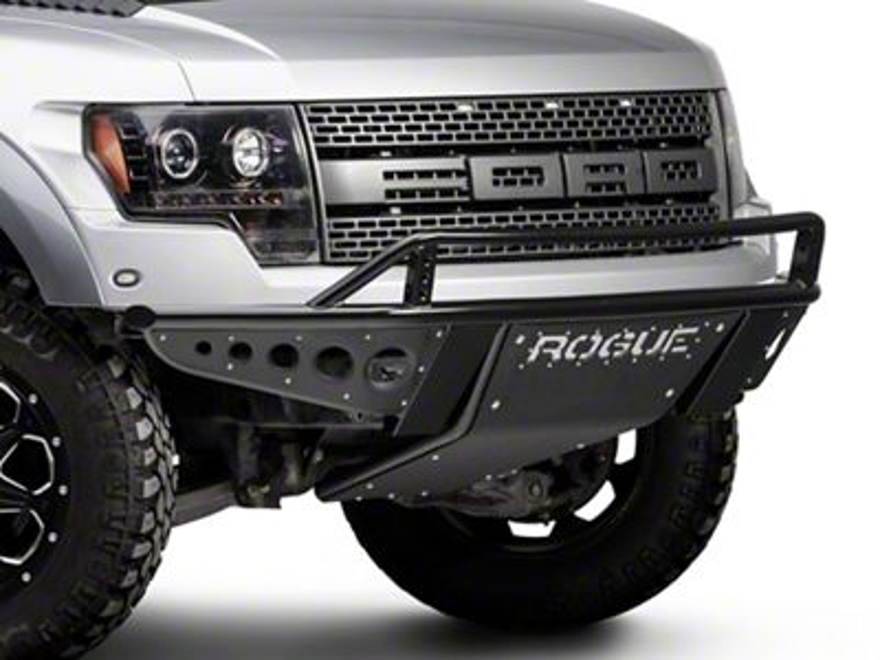 Rogue Racing Revolver Front Bumper w/ Dimple Side Skins (10-14 Raptor)