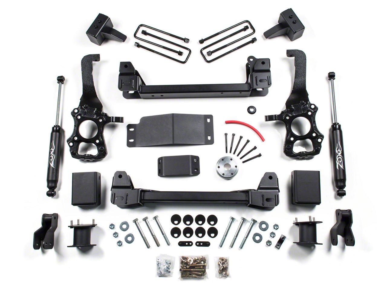 Zone Offroad 4 in. Suspension Lift Kit w/ Shocks (15-16 4WD F-150)