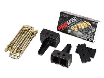 ProRYDE 3-in-1 Adjustable Rear Lift Block Kit (04-19 4WD F-150)
