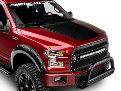 Matte Black Hood Decal (15-18 F-150, Excluding Raptor)