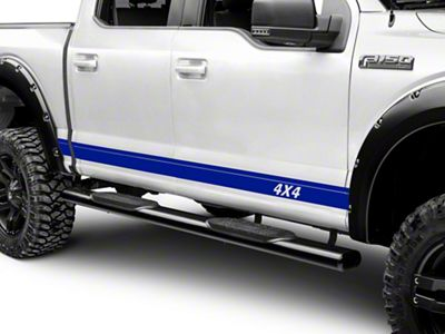 Blue Rocker Stripes w/ 4x4 Logo (97-18 F-150)
