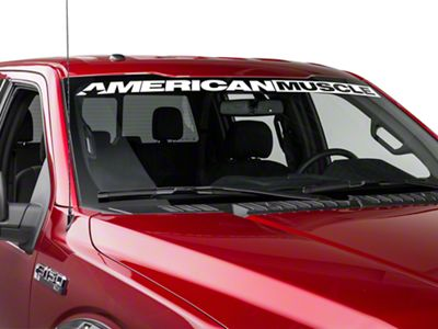 AmericanMuscle Windshield Banner - White (09-18 F-150)