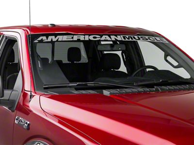 AmericanMuscle Windshield Banner - Silver (09-18 F-150)