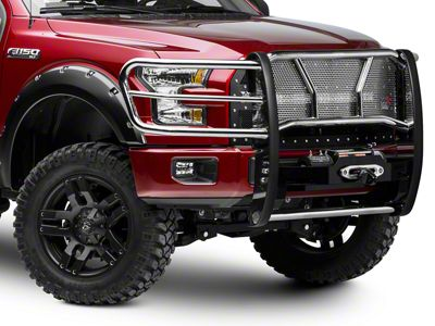 Westin HDX Winch Mount Brush Guard - Stainless Steel (15-19 F-150, Excluding Raptor)