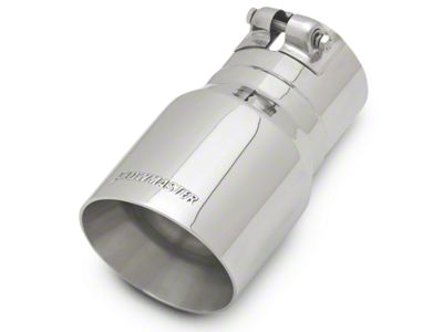 Flowmaster 4 in. Angle Cut Exhaust Tip - Polished Stainless - 3 in. Connection (97-19 F-150)