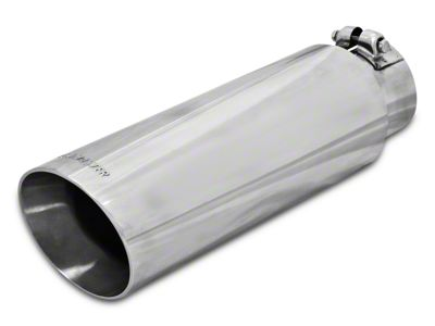 Flowmaster 3.5 in. or 4 in. Angle Cut Exhaust Tip - Polished Stainless - 2.5 in. or 3.0 in. Connection (97-18 F-150)