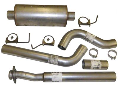 Heartthrob 4 in. Aluminized Single Exhaust System - Side Exit (11-14 5.0L F-150)