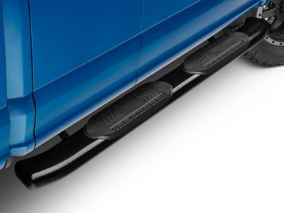Barricade 6 in. Oval Bent Side Step Bars - Black (15-19 F-150 Regular Cab, SuperCab)