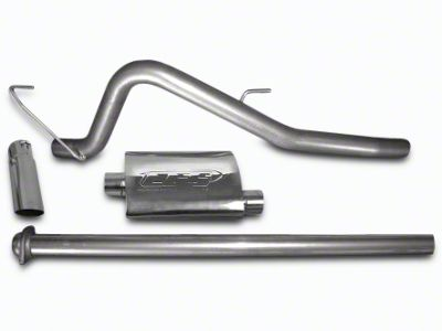 CGS Motorsports Aluminized Single Exhaust System - Mild Tone - Side Exit (11-14 6.2L F-150, Excluding Raptor)