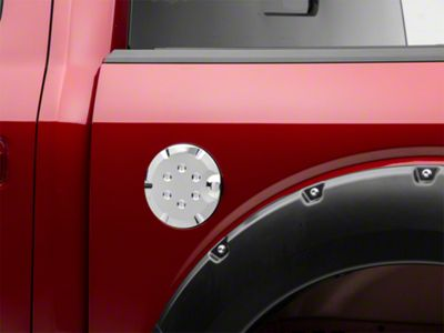 Putco Fuel Tank Door Cover - Chrome (15-19 F-150, Excluding Diesel)