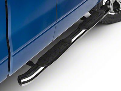 Raptor Series 5 in. OE Style Curved Oval Side Step Bars - Polished Stainless (04-14 F-150)