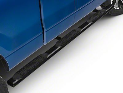 Raptor Series 5 in. Oval Wheel to Wheel Side Step Bars - Black E-Coated (04-14 F-150 SuperCab w/ 6.5 ft. Bed; 09-14 SuperCrew w/ 5.5 ft. Bed)