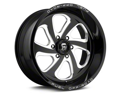 Fuel Wheels Flow 6 Black Milled 6-Lug Wheel - 20x10 (04-18 F-150)