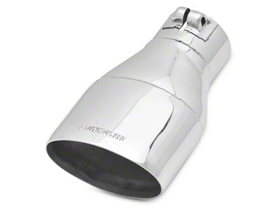 Flowmaster 3.5 in. Oval Straight Cut Exhaust Tip - Polished Stainless - 3.0 in. Connection (97-18 F-150)