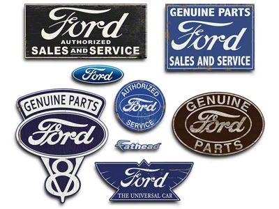 Fathead Ford Garage Signs and Wall Decals