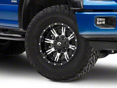 Fuel Wheels Nutz Black Machined 6-Lug Wheel - 17x9 (04-18 F-150)