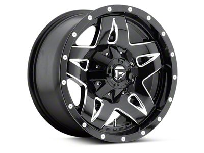 Fuel Wheels Full Blown Gloss Black Milled 6-Lug Wheel - 17x9 (04-18 F-150)