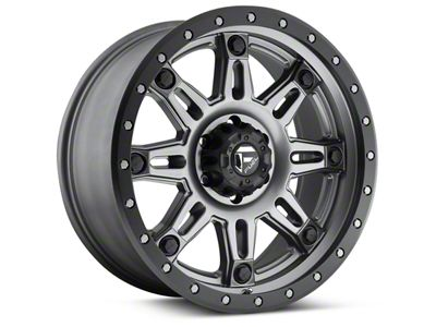Fuel Wheels Hostage III Matte Anthracite w/ Black Ring 6-Lug Wheel - 17x9 (04-19 F-150)