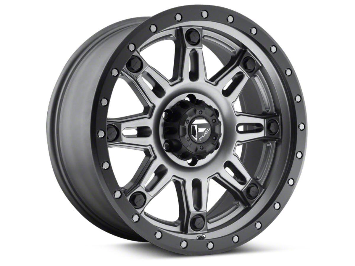 Fuel Wheels Hostage III Matte Anthracite w/ Black Ring 6-Lug Wheel - 17x9 (04-18 F-150)