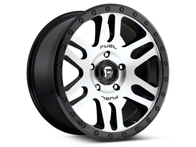 Fuel Wheels Recoil Black Machined 6-Lug Wheel - 17x8.5 (04-19 F-150)