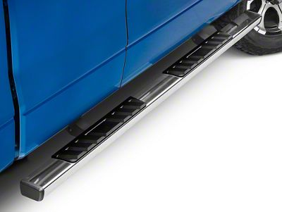 Barricade T4 Square Side Step Bars - Stainless Steel (09-14 F-150 SuperCab, SuperCrew)