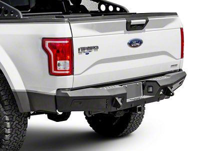 Addictive Desert Designs Honeybadger Rear Bumper - Pre-Drilled for Backup Sensors (15-19 F-150, Excluding Raptor)