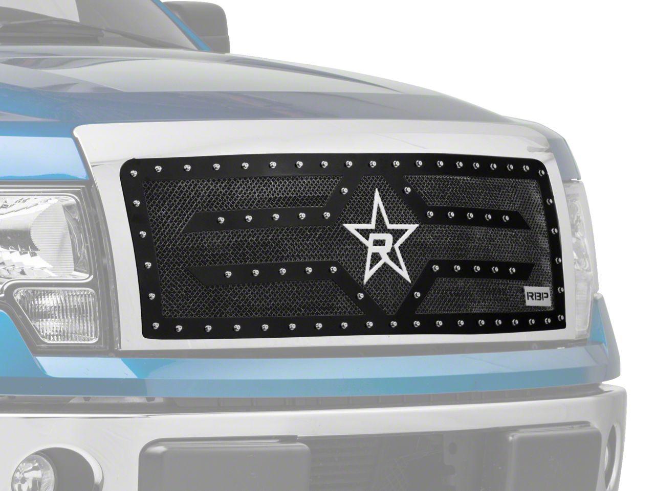 RBP RX-2 Series Studded Frame Upper Grille Insert - Black (09-14 F-150, Excluding Harley Davidson & Raptor)