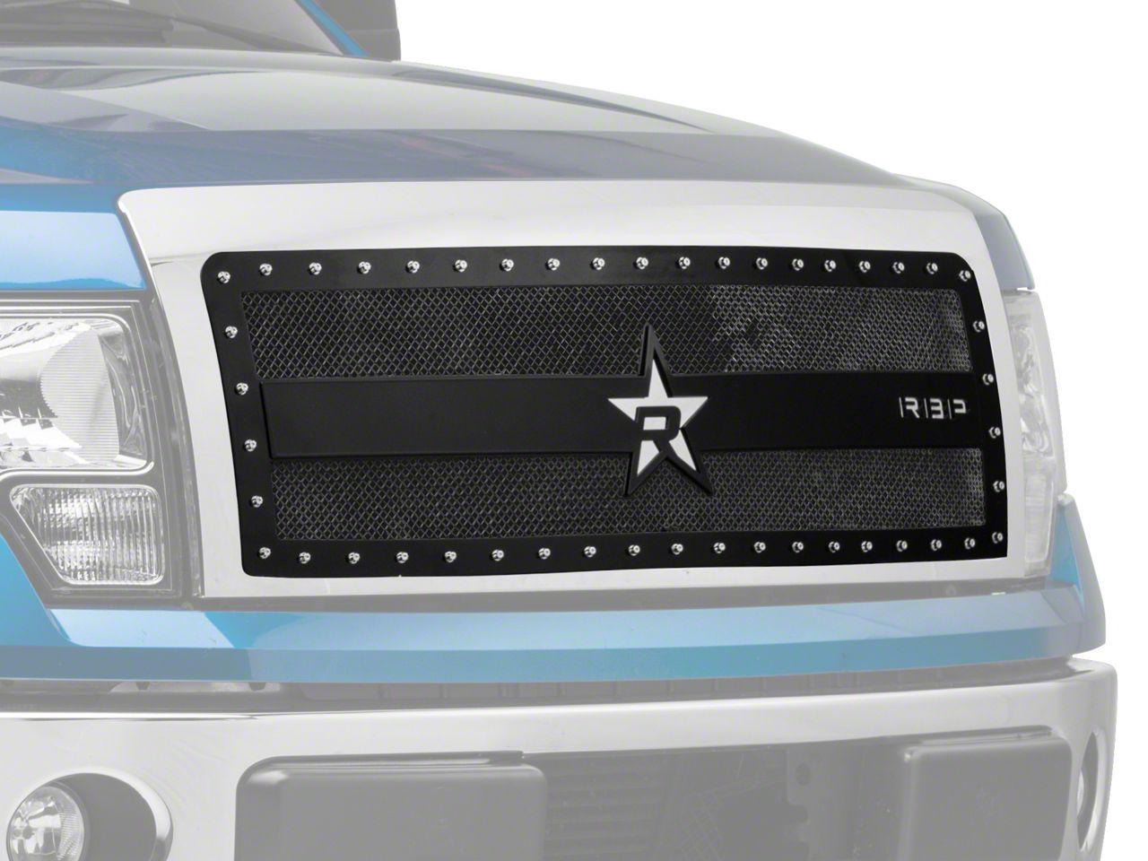 RBP RX-3 Series Studded Frame Upper Grille Insert - Black (09-14 F-150, Excluding Harley Davidson & Raptor)