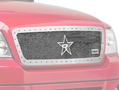 RBP RX-5 HALO Series Studded Frame Upper Grille Insert - Chrome (04-08 F-150)