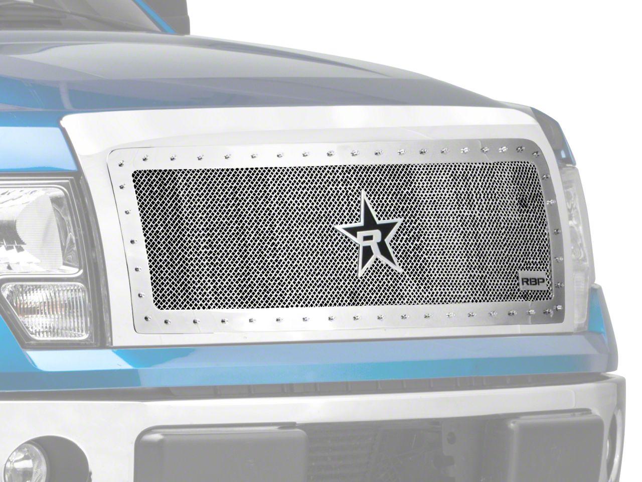 RBP RX-5 HALO Series Studded Frame Upper Grille Insert - Chrome (09-14 F-150, Excluding Harley Davidson & Raptor)