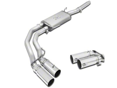 AFE Rebel Series 3 in. to 2.5 in. Dual Exhaust System w/ Polished Tips - Middle Side Exit (04-08 4.6L F-150)