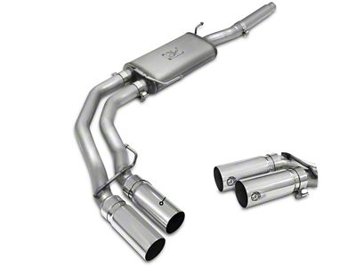AFE Rebel Series 3 in. to 2.5 in. Dual Exhaust System w/ Polished Tips - Middle Side Exit (04-08 5.4L F-150)