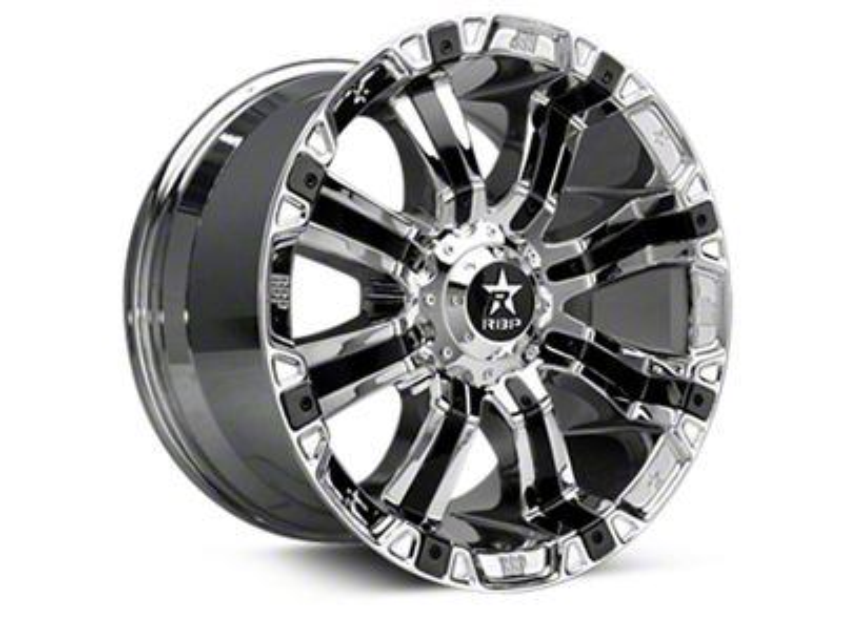RBP 94R Chrome w/ Black Inserts 6-Lug Wheel - 20x10 (04-19 F-150)