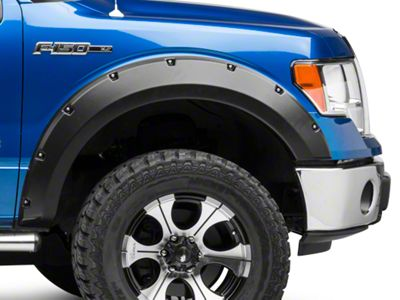 Lund Elite Series RX-Rivet Style Fender Flares - Textured (09-14 Styleside, Excluding Platinum & Raptor)