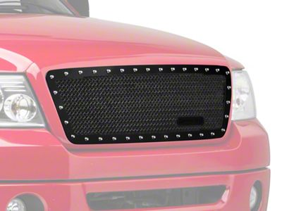 Royalty Core RC1 Classic Stainless Steel Upper Grille Insert - Gloss Black (04-08 F-150)