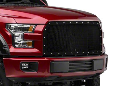 Royalty Core RCR Race Line Upper Replacement Grille - Satin Black (15-17 F-150, Excluding Raptor)