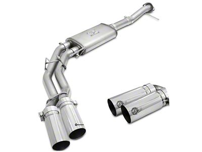 AFE Rebel Series 3 in. to 2.5 in. Dual Exhaust System w/ Polished Tips - Middle Side Exit (11-14 5.0L F-150)