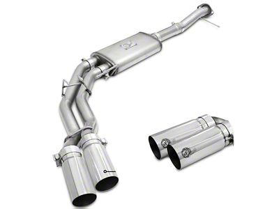AFE Rebel Series 3 in. to 2.5 in. Dual Exhaust System w/ Polished Tips - Middle Side Exit (09-10 5.4L F-150, Excluding Raptor)