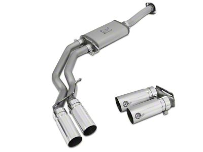 AFE Rebel Series 3 in. to 2.5 in. Dual Exhaust System w/ Polished Tips - Middle Side Exit (15-18 5.0L F-150)