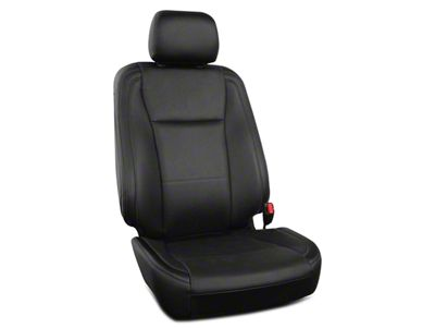 Roadwire Premium Leather Front Seat Covers - Black (15-19 F-150 XL, XLT, Platinum SuperCrew)
