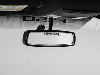 Modern Billet Brushed Rear View Mirror Trim w/ Raptor Logo (10-14 F-150)