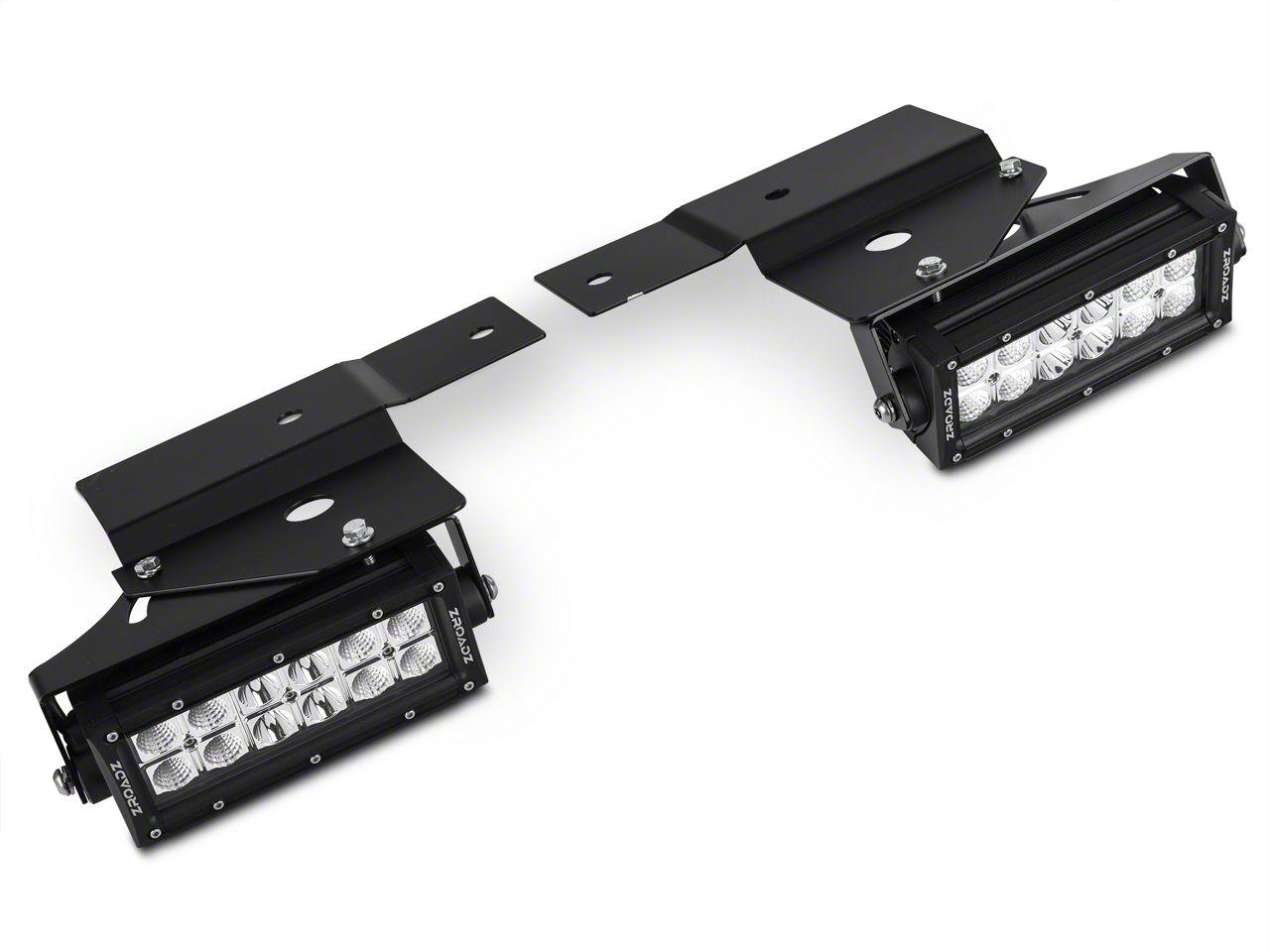 ZRoadz Two 6 in. LED Light Bars w/ Fog Light Mounting Brackets (10-14 F-150 Raptor)