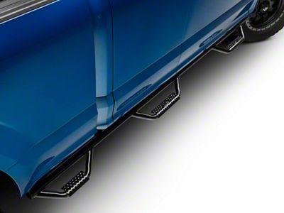 N-Fab Wheel 2 Wheel Bed Access Nerf Side Step Bars - Gloss Black (15-18 F-150 SuperCab w/ 6.5 ft. Bed)