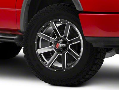 Havok Off-Road H107 Black Milled 6-Lug Wheel - 20X9 (15-18 F-150)