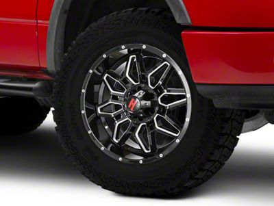 Havok Off-Road H109 Black Milled 6-Lug Wheel - 20x9 (15-18 F-150)